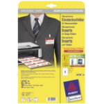 Avery L4728-20 identity badge/badge holder Paper 160 pc(s)