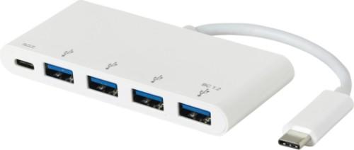 eSTUFF USB-C Charging hub USB 3.2 Gen 1 (3.1 Gen 1) Type-C 5000 Mbit/s White