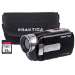 Praktica Z160IR Black Infra Red WiFi Camcorder inc 32GB SD Card & Case