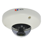ACTi E96 IP security camera Indoor Dome White security camera