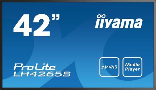 "iiyama LH4265S 106.7 cm (42"") LED Full HD Digital signage flat panel Black"