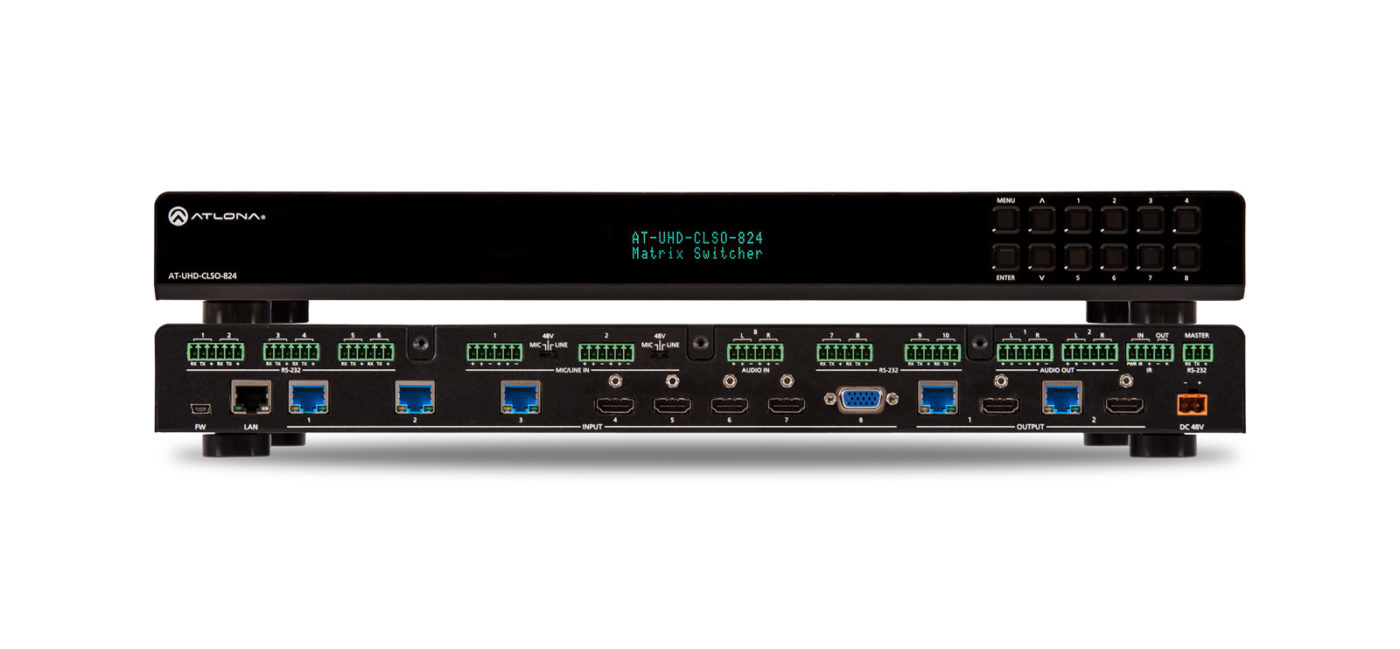 4k/uhd 8z2 Multi-format Matrix Switcher With Dual Hdbaset And Mirrored Hdmi Outputs