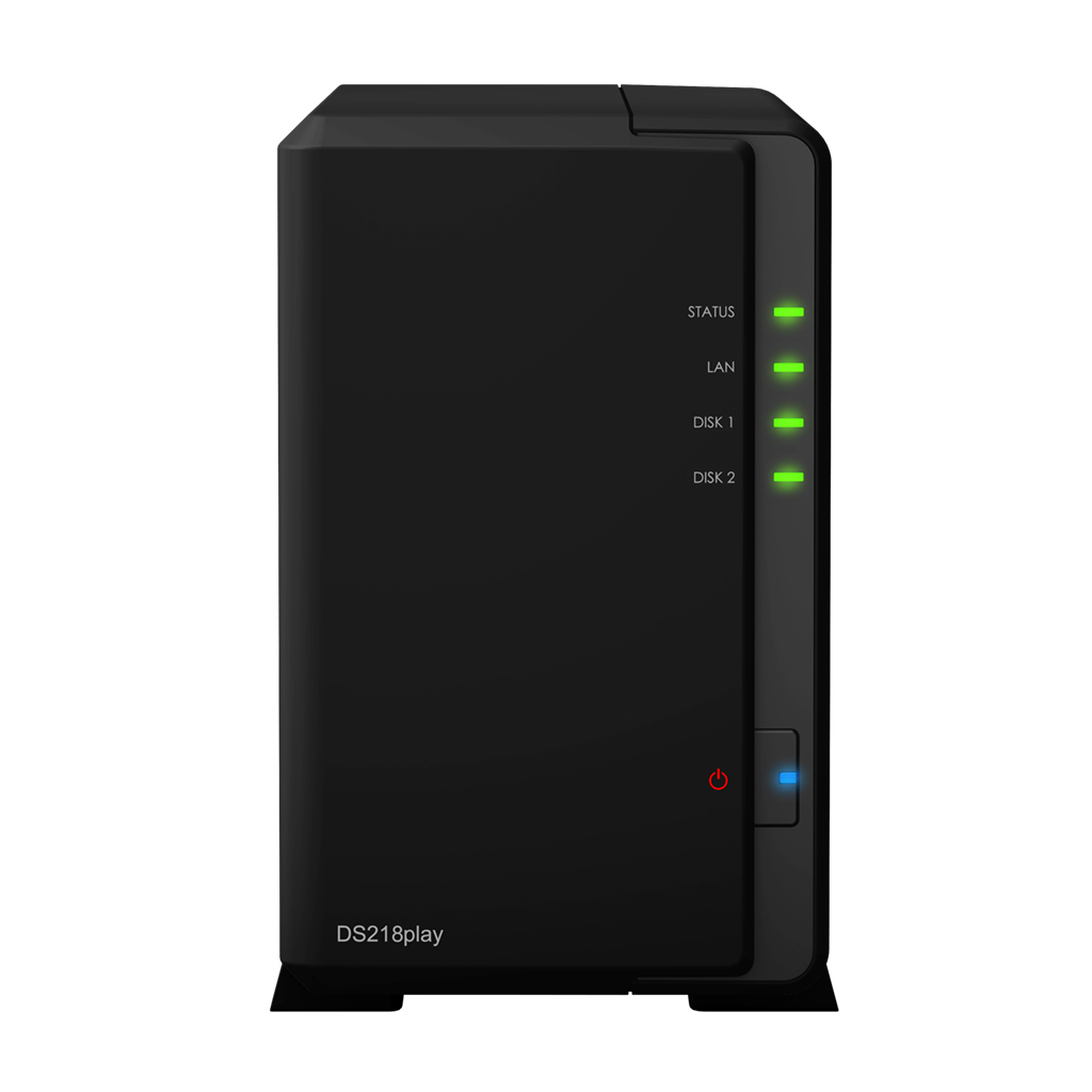 Synology DiskStation DS218play Ethernet LAN Desktop Black NAS