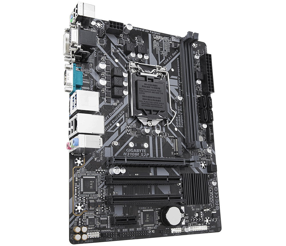 Gigabyte H310M S2P Intel® H310 LGA 1151 (Socket H4) Micro ATX motherboard