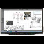 "Smart Board 7075 Pro 75"" 3840 x 2160pixels Multi-touch Multi-user Black touch screen monitor"