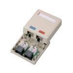 C2G Cat5E Surface Mount Box 2-Port White network splitter