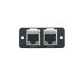 Kramer Electronics Wall Plate Insert - 2 x RJ-45 outlet box