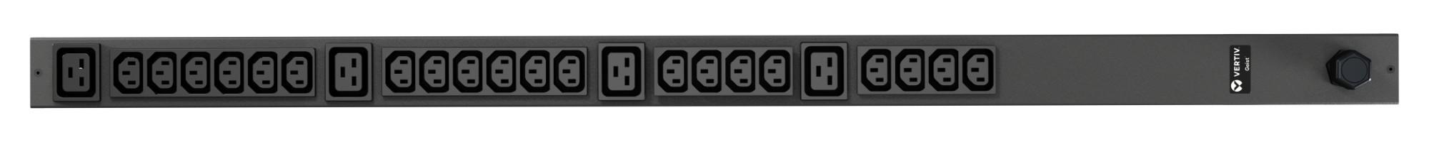 Vertiv Geist rPDU, basic, 0U, input IEC60309 230V 16A, outputs (20)C13 | (4)C19 unidad de distribución de energía (PDU) Negro 24 salidas AC