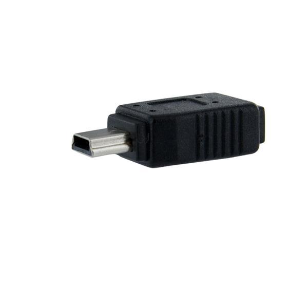 StarTech.com Adaptador Micro USB a Mini USB - 1x MicroUSB-B Hembra - 1x MiniUSB-B Macho