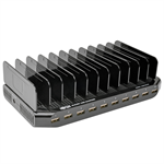 Tripp Lite 10-Port USB Charging Station with Adjustable Storage, 12V 8A (96W) USB Charger Output
