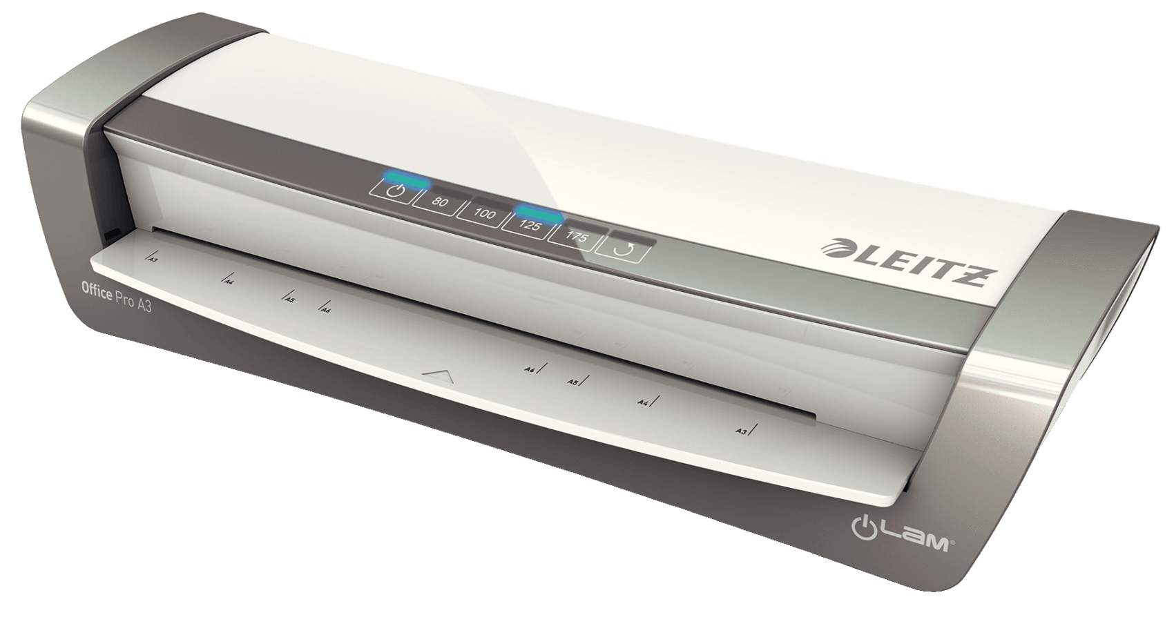 Leitz iLAM Office Pro A3 Hot laminator 500mm/min Grey, Silver