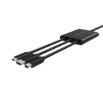 Belkin B2B169 cable interface/gender adapter HDMI + USB Mini DisplayPort Black