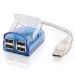 C2G USB 2.0 4-Port Laptop Hub w/ LED Cable Azul
