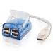C2G USB 2.0 4-Port Laptop Hub w/ LED Cable