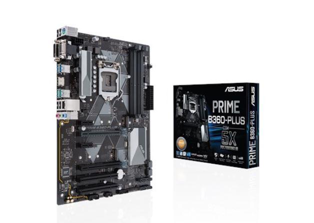 ASUS INTEL MOTHERBOARD PRIME B360-PLUS/CSM B360M-K SOCKET 1151 B360 CHIPSET 4 DIMMS