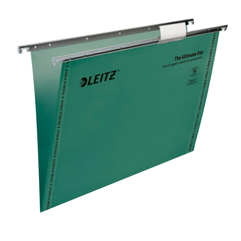 Leitz Ultimate Suspension File Foolscap Green 7440055 (PK50)