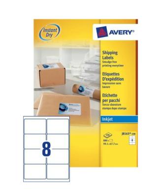 Avery J8165-100 addressing label White Self-adhesive label
