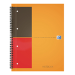 Elba International Classic Notebook 160pp Ruled Perforated A4+ Orange/Grey Ref 100104036 [Pack 5]