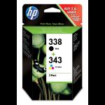 HP SD449EE (338+343) Printhead cartridge multi pack, 11ml+7ml, Pack qty 2