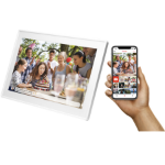 "Denver PFF-1513WHITE digital photo frame 39.6 cm (15.6"") Touchscreen Wi-Fi White"