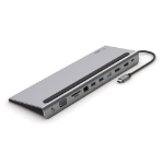 Belkin INC004BTSGY notebook dock/port replicator Wired USB 3.2 Gen 1 (3.1 Gen 1) Type-C Black, Grey