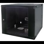 "Intellinet 19"" Double Section Wallmount Cabinet, 9U, 450mm depth, Flatpack, Black"