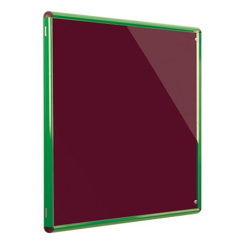 Metroplan Shield Design insert notice board Indoor Green,Bordeaux Aluminum
