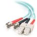 C2G 85526 cable de fibra optica 7 m OFNR SC ST Turquesa