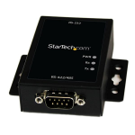 StarTech.com IC232485S serial converter/repeater/isolator RS-232 Black