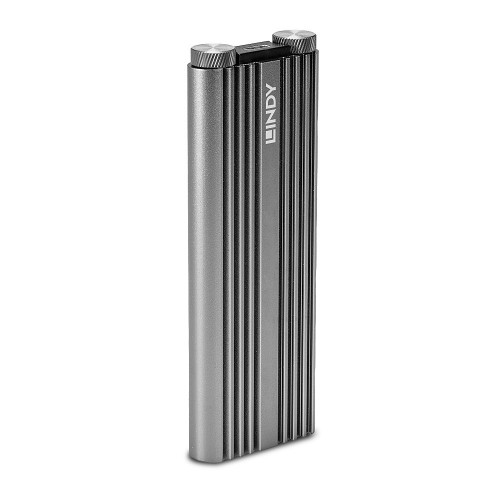 Lindy 43318 storage drive enclosure SSD enclosure Silver M.2