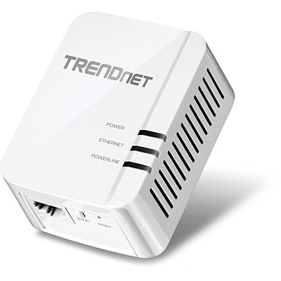 Trendnet TPL-420E 1200Mbit/s Ethernet LAN White 1pc(s) PowerLine network adapter