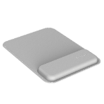 Fellowes 8066501 wrist rest Genuine leather, Memory foam Grey