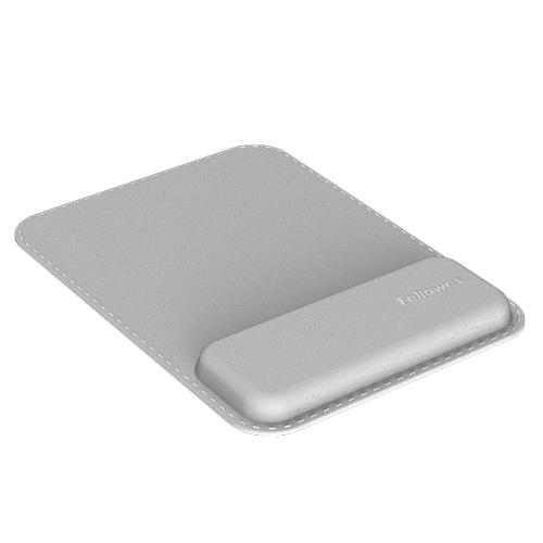 Fellowes 8066501 wrist rest Genuine leather, Memory foam Grey