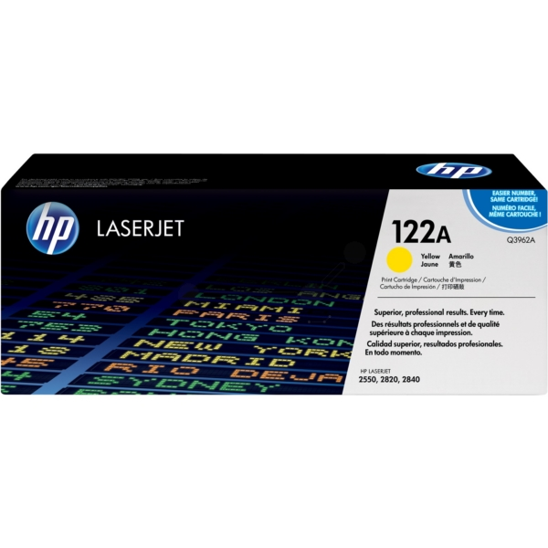 HP Q3962A (122A) Toner yellow, 4K pages @ 5% coverage