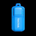 SANDISK Cruzer Switch USB Flash Drive, CZ52 16GB, USB2.0, Neon Blue, flip-top design, 5Y
