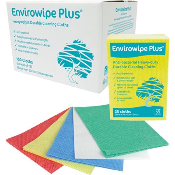 Envirowipe Plus Heavy-Duty Cleaning Cloths (50x36) Red PK25