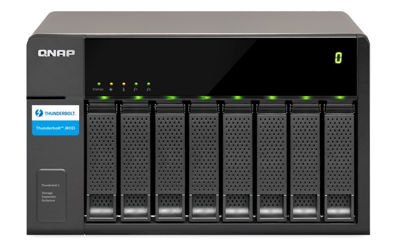 QNAP TX-800P disk array 64 TB Tower Black