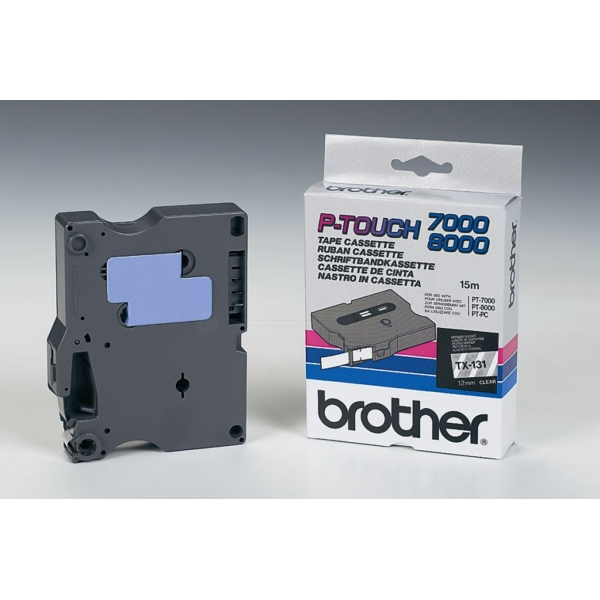 Brother TX-131 P-Touch Ribbon, 12mm x 15m