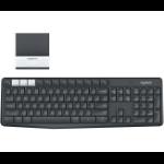 Logitech K375s keyboard RF Wireless + Bluetooth AZERTY Belgian Graphite, White 920-008171