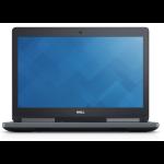 "DELL Precision 7520 DDR4-SDRAM Mobile workstation 39.6 cm (15.6"") 1920 x 1080 pixels 7th gen Intel® Core™ i7 16 GB 256 GB SSD AMD Radeon Pro WX 4130 Wi-Fi 5 (802.11ac) Windows 10 Pro Black"