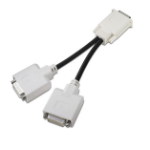 HP DVI 'Y' adapter cable 0.203m DMS 2 x DVI Zwart DVI kabel