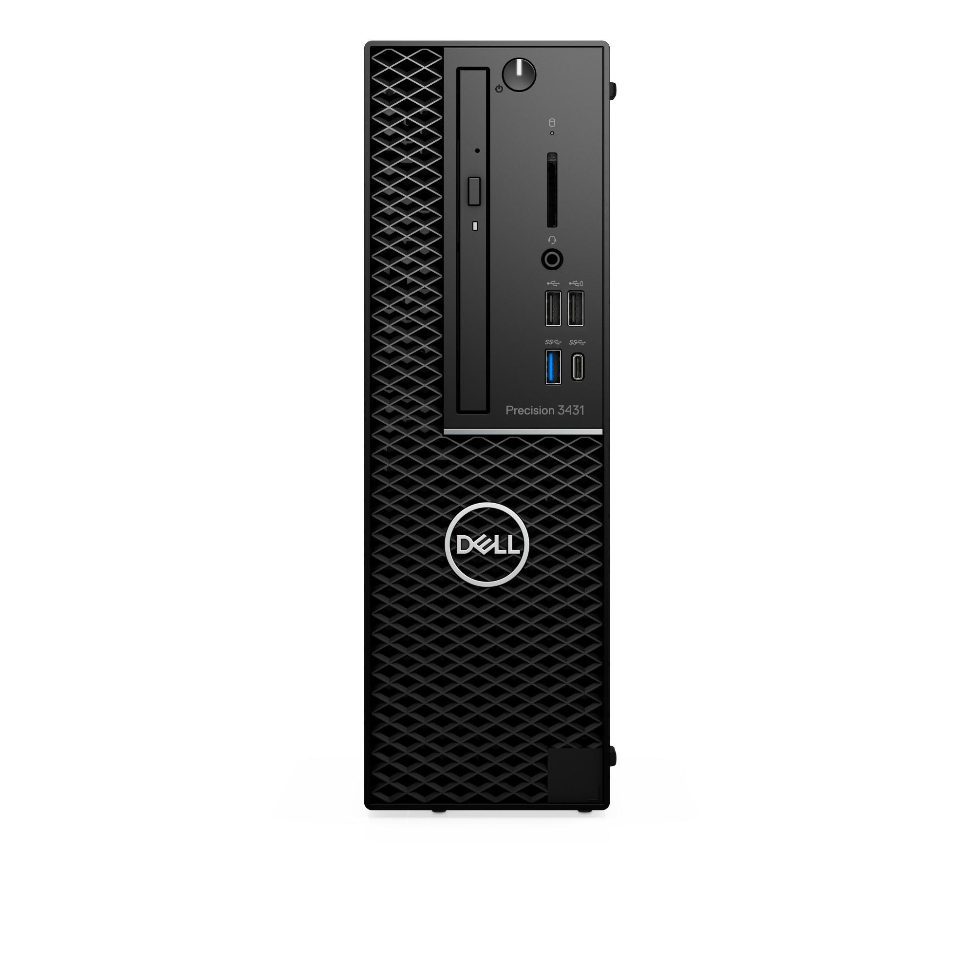 DELL Precision 3431 Intel Xeon E E-2224 16 GB DDR4-SDRAM 256 GB SSD SFF Black Workstation Windows 10 Pro