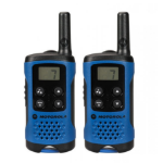 Motorola TLKR-T41 two-way radio 8 channels 446 MHz Black,Blue