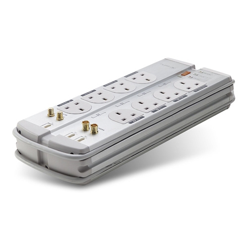 Belkin PureAV Isolator Home Theatre - 8 Sockets surge protector 8 AC outlet(s) 230 V 3 m White