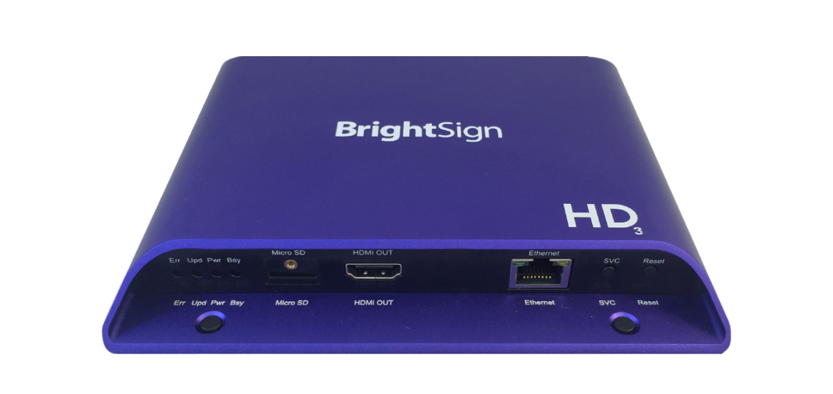 BrightSign HD223 1920 x 1080pixels Blue digital media player