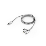 Verbatim 48869 USB cable 1 m USB A Micro-USB B/Lightning Aluminium,Grey