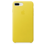 Apple iPhone 8 Plus / 7 Plus Leather Case - Spring Yellow