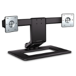 HP Adjust Dual Monitor Stand Black,Silver