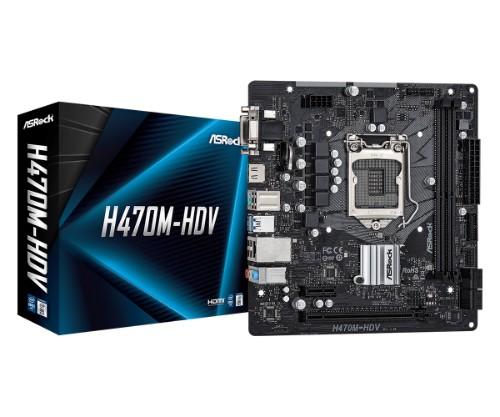 Asrock H470M-HDV motherboard Intel H470 LGA 1200 micro ATX