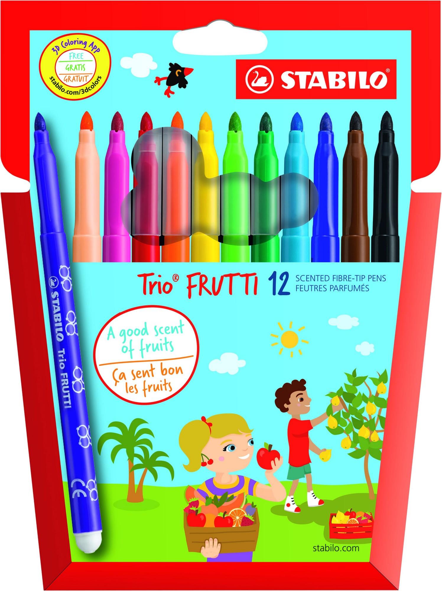 Stabilo Trio Frutti Scented Felt Pens PK12